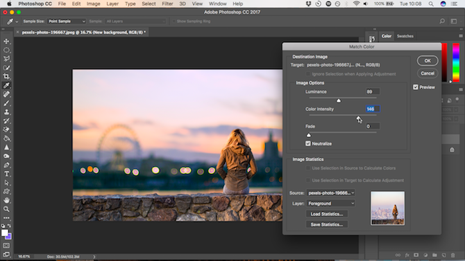 How to Change the Background of a Photo in Photoshop intensity