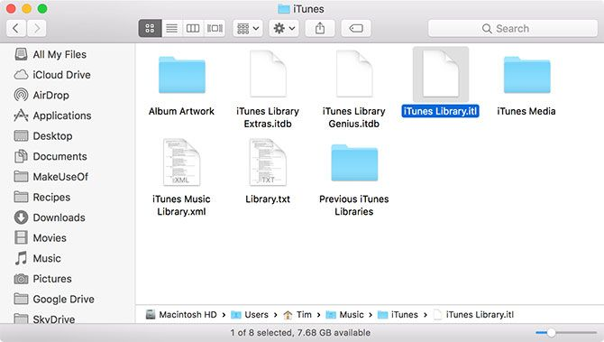 how to delete itunes library.itl