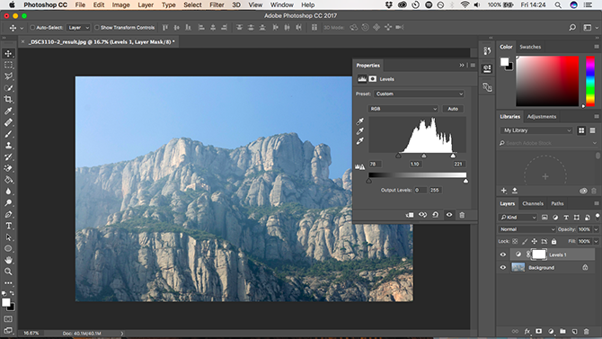 10 Must-Know Introductory Photoshop Skills for Beginner Photographers levels adjustment