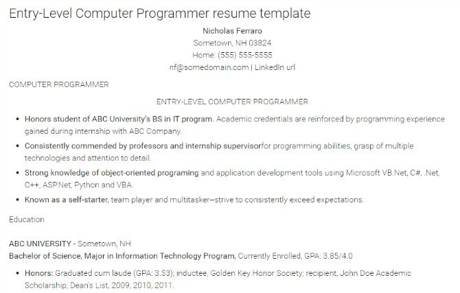 how to write the perfect resume for a programming job monster resume