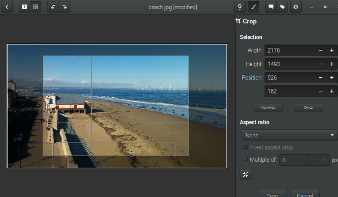 How to Easily Crop and Resize Images in Linux muo creative linux croptools gthumb