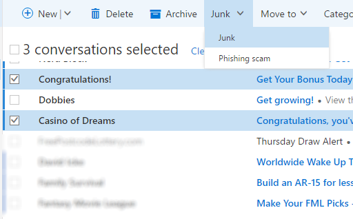 how to stop junk mail in hotmail inbox