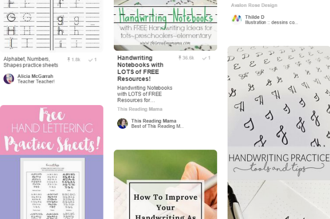 10 Unique Ways to Practice Your Handwriting When You Hate It pinterest worksheets