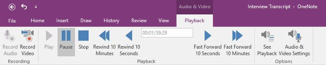 10 Awesome OneNote Tips You Should Be Using All the Time playback tab 670x135