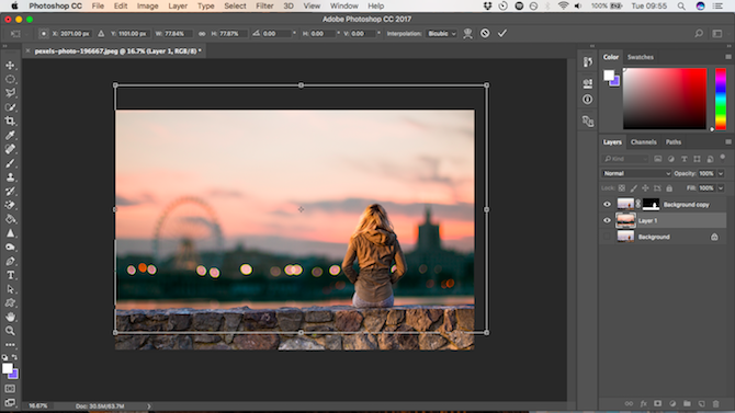 How to Change the Background of a Photo in Photoshop position background