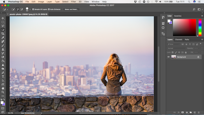 How to Change the Background of a Photo in Photoshop quick select