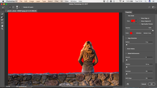 How to Change the Background of a Photo in Photoshop select and mask