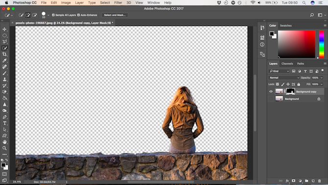 How to Change the Background of a Photo in Photoshop selection mask