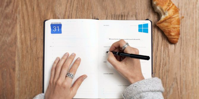 Calendario Windows 10 Su Desktop.7 Ways To Make Google Calendar Your Windows Desktop Calendar