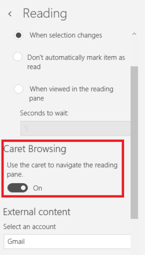 7 Superior Windows 10 Mail Features You Probably Didn't Know About windows mail caret browsing 284x500