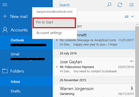 7 Superior Windows 10 Mail Features You Probably Didn't Know About windows mail pin to start