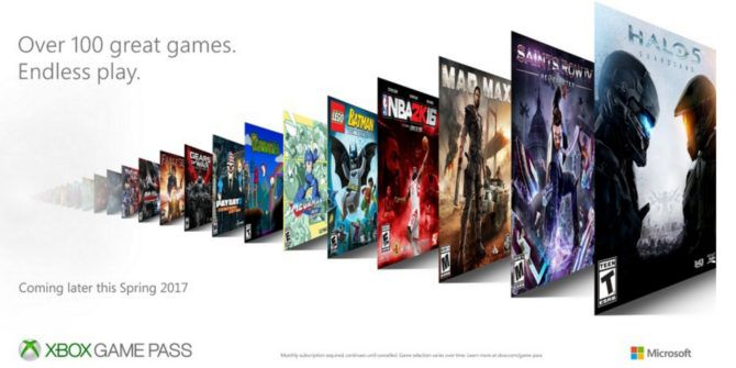 Microsoft Launches Xbox Game Pass for Hardcore Gamers