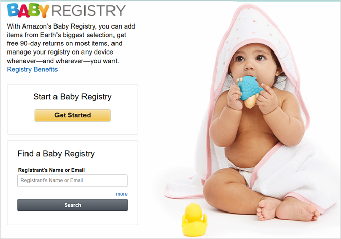 amazon baby registry main