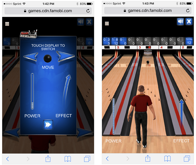 Classic Bowling Mobile Browser