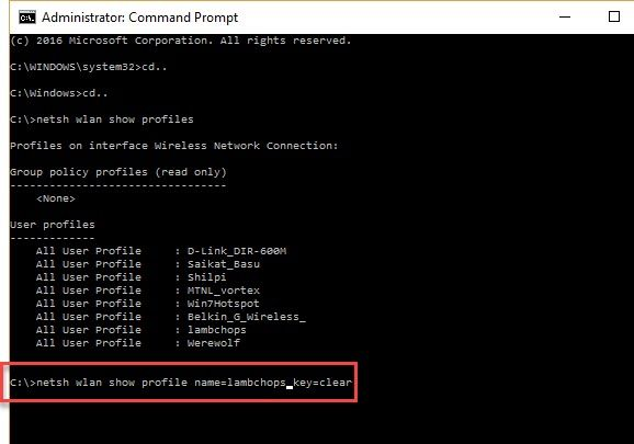 How to Find Saved Wi-Fi Passwords for Past Networks in Windows 10 Command Window02