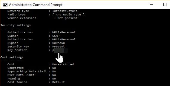 How to Find Saved Wi-Fi Passwords for Past Networks in Windows 10 Command Window03
