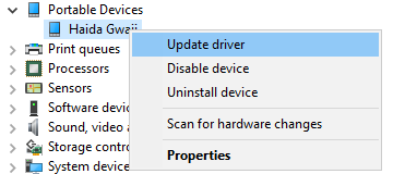 How to Install Windows Drivers for Your Android Phone Device Manager Portable Devices