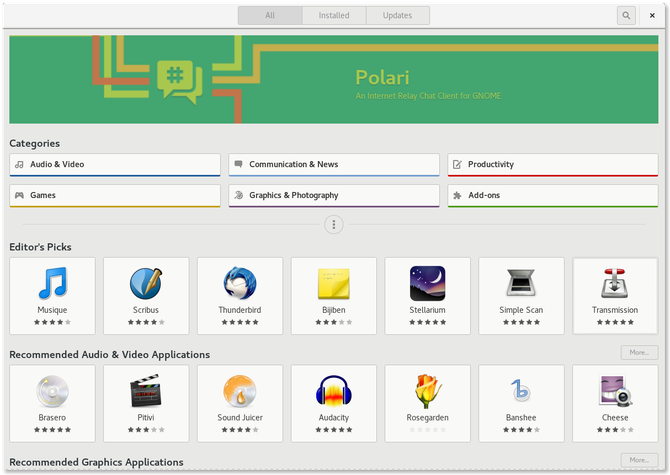 Linux App Stores GNOME Software