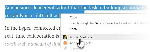 Don't Just Bookmark Articles: Save Your Reading Progress Using This Nifty Tool Markticle Right Click