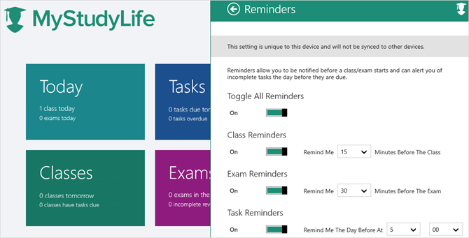 my study life windows app