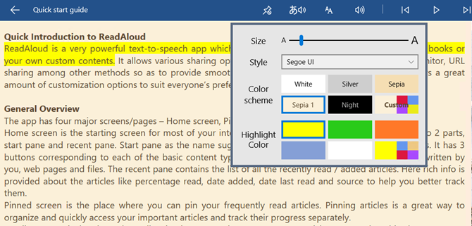 readaloud windows app