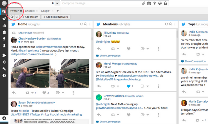 Twitter Streams Hootsuite