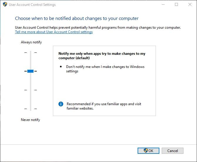 windows 10 user account control