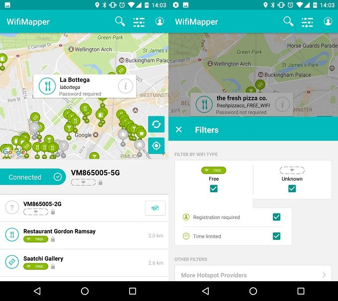 Improve Your Wi-Fi Signal at Home & Outside with These Android Apps WifiMapper Screenshot One