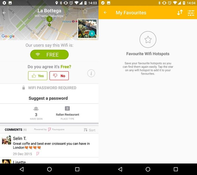 Improve Your Wi-Fi Signal at Home & Outside with These Android Apps WifiMapper Screenshot Two
