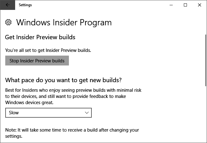 How to Get the Windows 10 Creators Update Now Windows 10 Insider Preview Build Settings 670x463