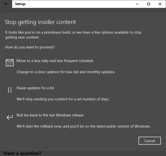 How to Get the Windows 10 Creators Update Now Windows 10 Stop Insider Preview Build 531x500