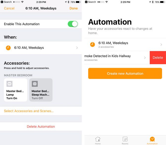 Deleting HomeKit Automation
