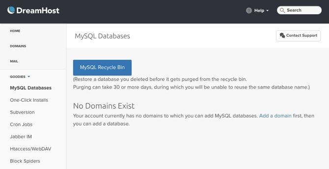 What Should You Be Looking for in a Web Host? dreamhost mysql