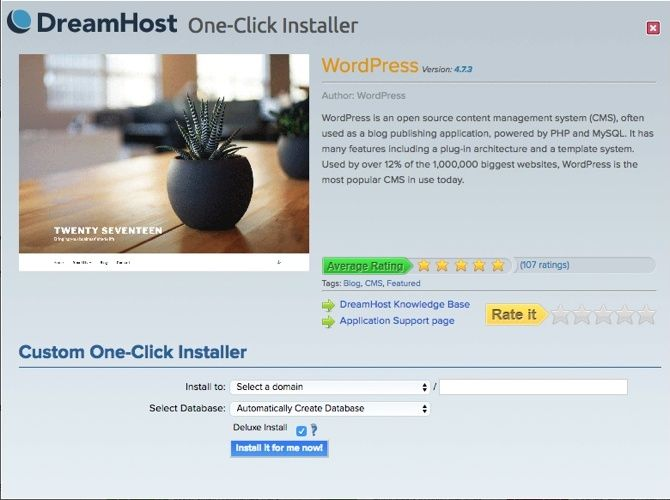 What Should You Be Looking for in a Web Host? dreamhost quick installs 2