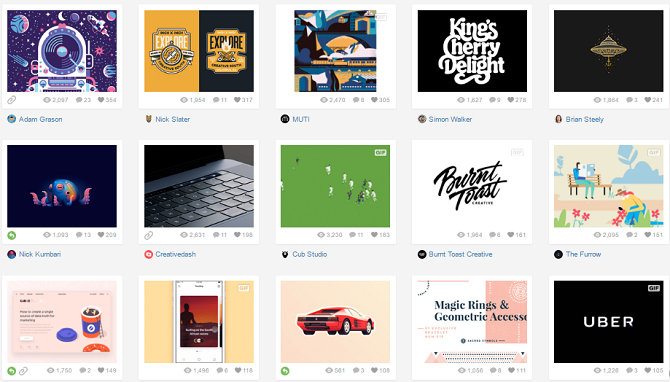 Niche social networks: Dribbble