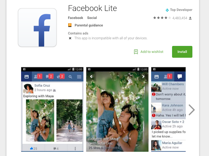 4 Ways to Reduce Your Mobile Internet Data Usage with Android Apps facebook lite