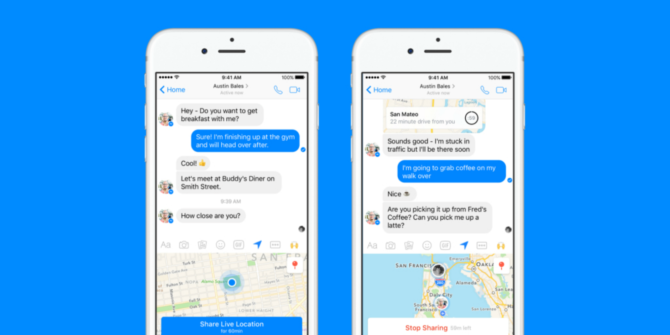 Facebook Adds Live Location Tracking to Messenger