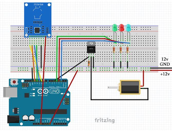 full setup circuit fritzing