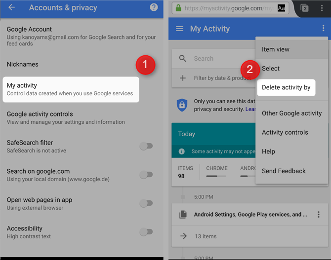 7 Free Google Services That Cost You Battery Life and Privacy google my activity accounts privacy