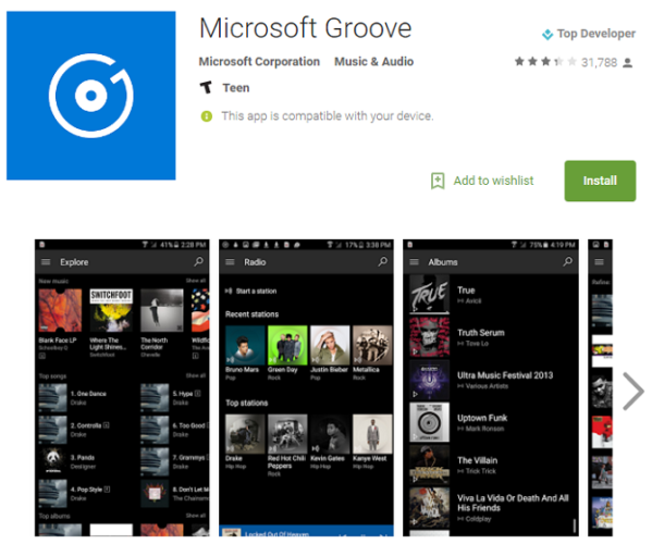 groove app android