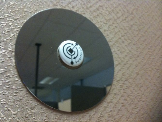 hard drives cubicle mirror