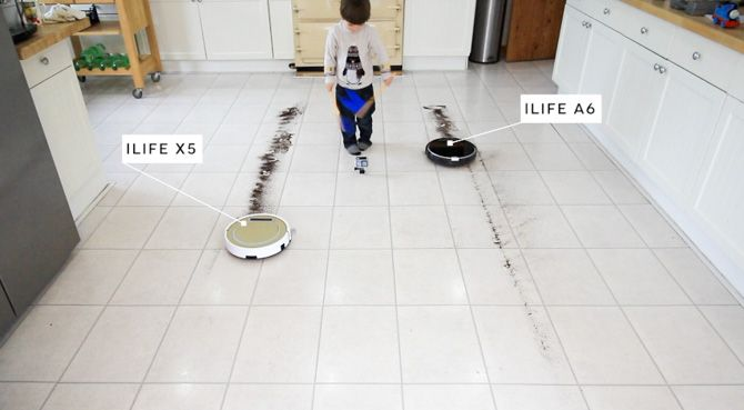 ILIFE A6 Robot Vacuum Review ilife a6 line clean kitchen test
