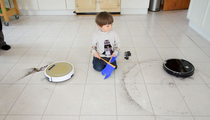 ILIFE A6 Robot Vacuum Review ilife a6 spot clean kitchen test