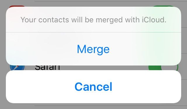 merge contacts with icloud