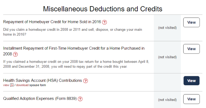 Misc Deductions