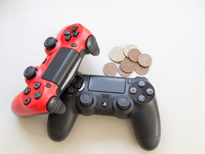 gaming controllers and money