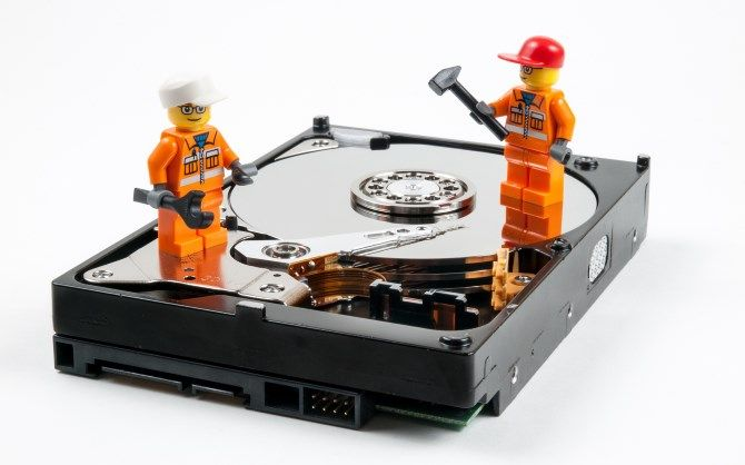 lego workers on open hard drive