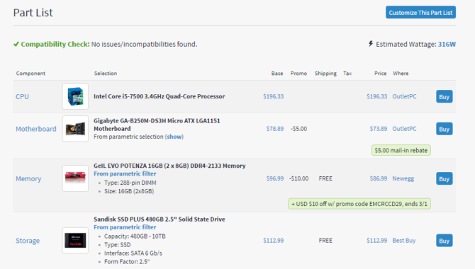 How to Buy a Cheap Gaming PC With an Nvidia Graphics Card pcpartpicker e1488335499129