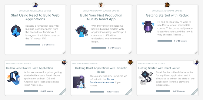7 Best Free Tutorials for Learning React and Making Web Apps react tutorial egghead courses