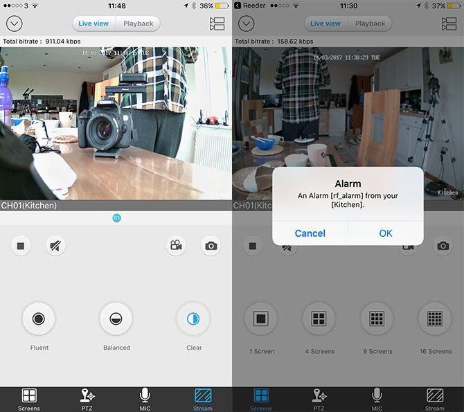 Reolink Keen: 100% Wireless Security Cam Review screencap interface